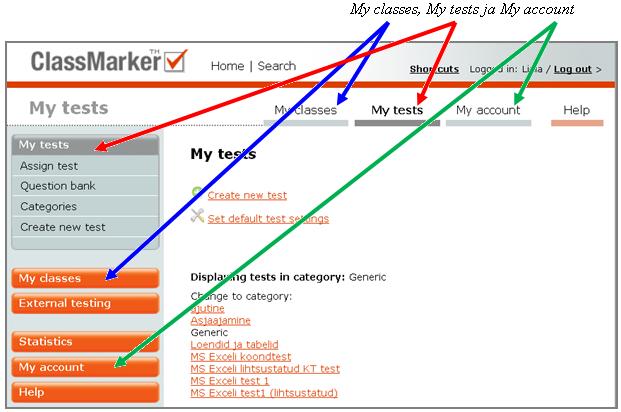 Veebipõhiste testide loomise vahend classmarker com